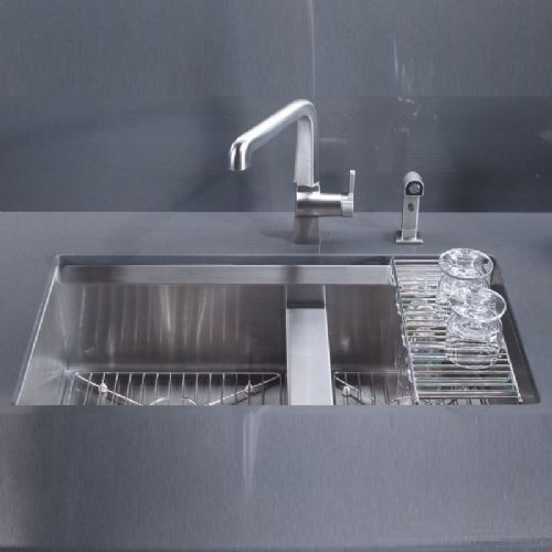 Kohler 8 Degree Stainless Steel Kitchen Sink - 3672-NA